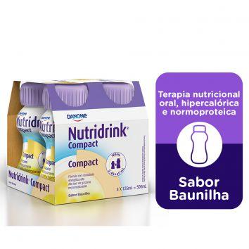 NUTRIDRINK COMPACT SABOR BAUNILHA 125ML C/4 UNID - DANONE