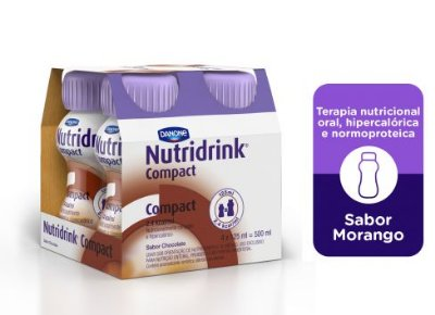 NUTRIDRINK COMPACT SABOR CHOCOLATE 125ML C/4 UNID - DANONE