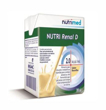 NUTRI RENAL D SABOR BAUNILHA C/200 ML - NUTRIMED