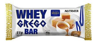 WHEY GREGO BAR SABOR DOCE DE LEITE C/40G - NUTRATA