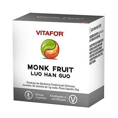 MONK FRUIT C/ 30 SACHES 1G - VITAFOR-VALIDADE 30/09/2021