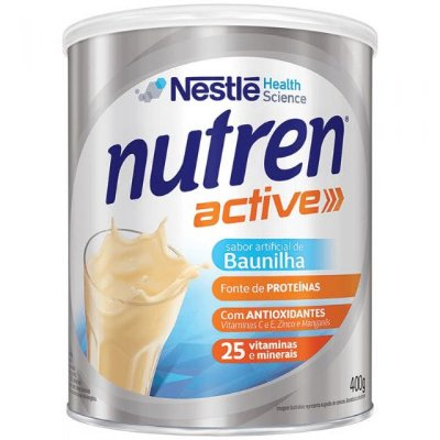 NUTREN ACTIVE SABOR BAUNILHA C/400G - NESTLE