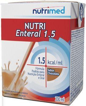 NUTRI ENTERAL 1.5 SABOR CHOCOLATE C/200 ML - NUTRIMED **VALIDADE PRÓXIMA**