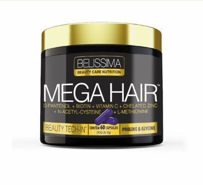 MEGA HAIR 60 CAPS - BLACK SKULL