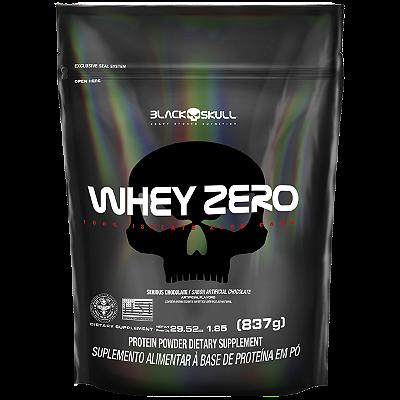 REFIL WHEY ZERO CHOCOLATE 837G - BLACK SKULL