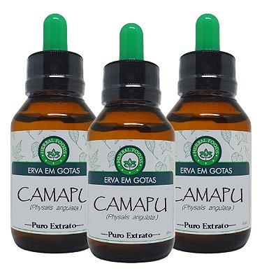 3 Extratos de Camapu - 60ml ( Kit Promocional ).
