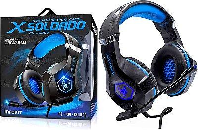 HEADSET INFOKIT GAMER XSOLDADO GH-X1000 7.1 RGB