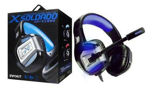 HEADSET INFOKIT GAMER XSOLDADO GH-X1800 7.1 RGB