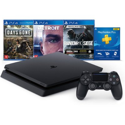 PLAYSTATION 4 SLIM 1TB C/ DG, DBH, RSS