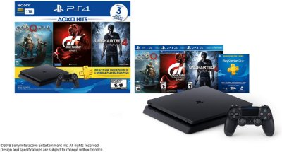 PLAYSTATION 4 SLIM 1TB C/ GOW,GT,UNCH4