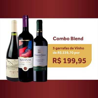 KIT VINHO 3 GRFS BLEND 750 ML