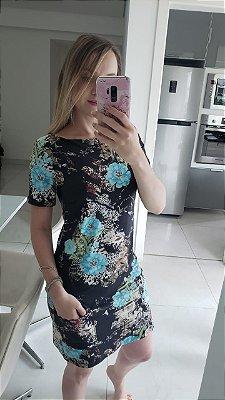 Vestido Suede c/ Bolso