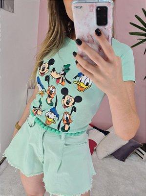 Tshirt Mickey Menta
