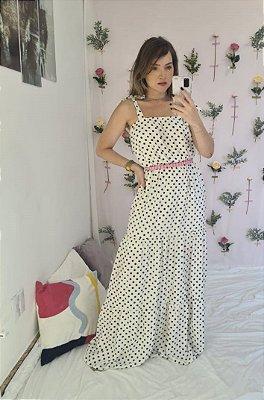 Vestido Vitória Poá Bolinhas