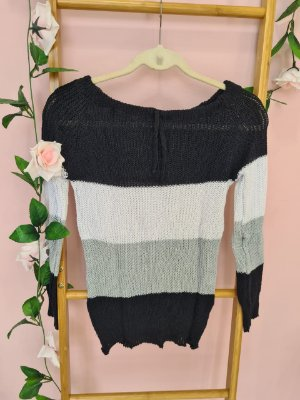 Blusa tricot manga longa listrada