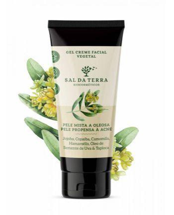 Gel creme facial vegetal pele mista a oleosa