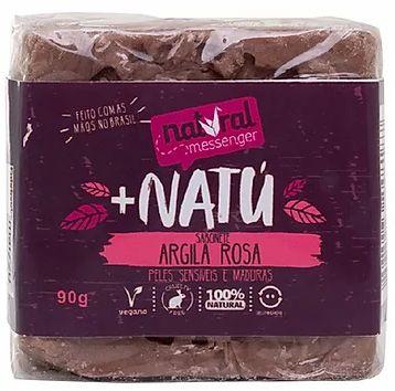 Sabonete Esfoliante Facial - Argila Rosa com Lavanda 90g