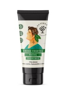 Creme vegetal facial masculino toque seco