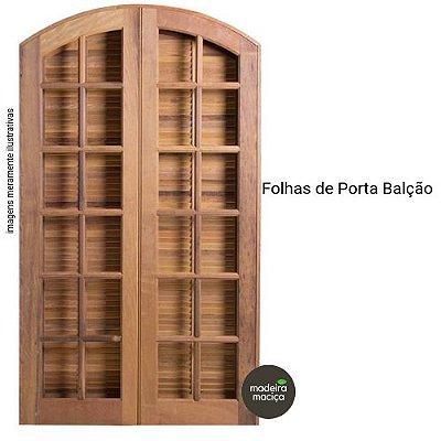 FOLHAS DE PORTA BALÇÃO EM PADRÃO IMBUIA EM ARCO - ( 4 PEÇAS ) 2,10 X 1,20