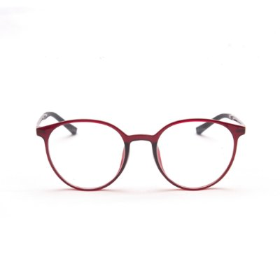Armação para Óculos de Grau Feminino Acetato Oval Marsala