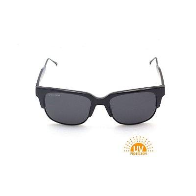 Óculos de Sol Quadrado Preto Verniz Lente Black Total Afrikan