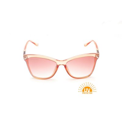 Óculos de Sol Quadrado Acrílico Rosa Lente Clara Rosa Afrikan