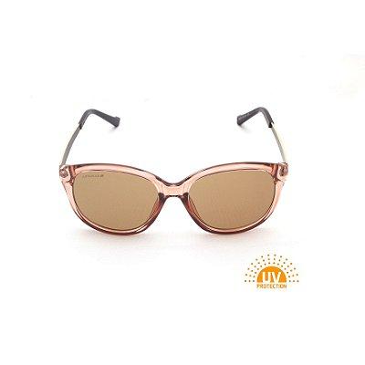 Óculos de Sol Acrílico Marrom Lente Marrom Clara Afrikan