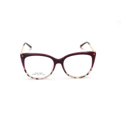 Armação para Óculos de Grau Estampada Vermelho Escuro Afrikan