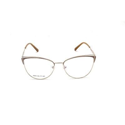 Armação para Óculos de Grau Feminino Nude e Dourado Afrikan