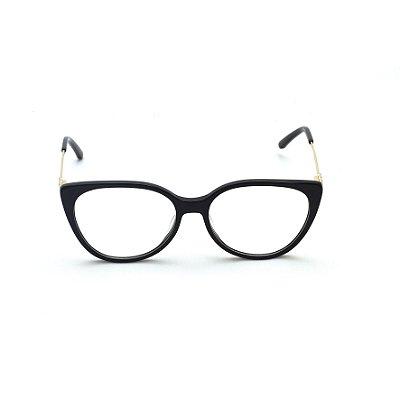 Armação para Óculos de Grau Feminino Preto Afrikan