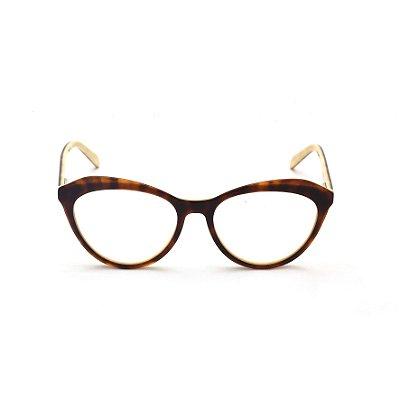 Armação para Óculos de Grau Gatinho Tartaruga Marrom Afrikan