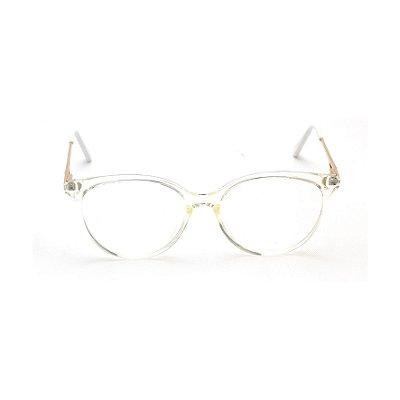 Armação para Óculos de Grau Redondo Transparente Afrikan