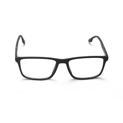 Armação para Óculos de Grau Masculino Retangular Preto