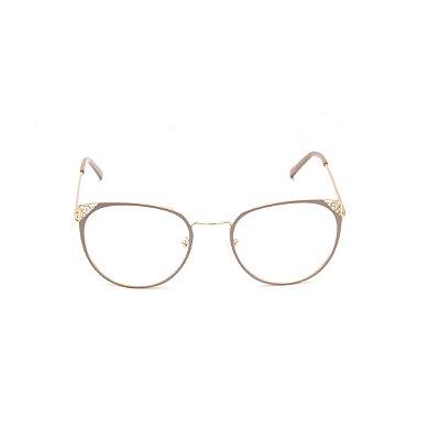 Armação para Óculos de Grau Gatinho Nude Afrikan