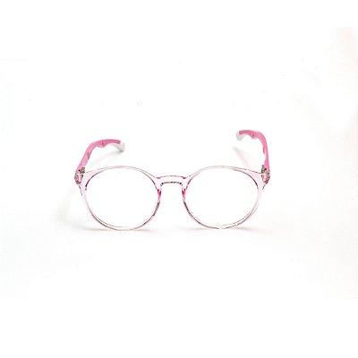 Armação para Óculos de Grau Infantil Feminino Redondo Rosa