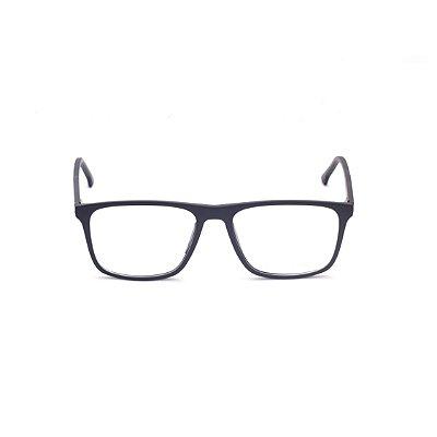 Armação para Óculos de Grau Masculino Topo Reto Preto