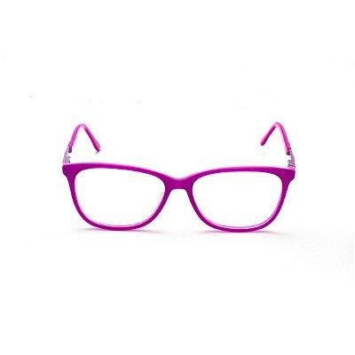 Armação para Óculos de Grau Retangular Fucsia Luana