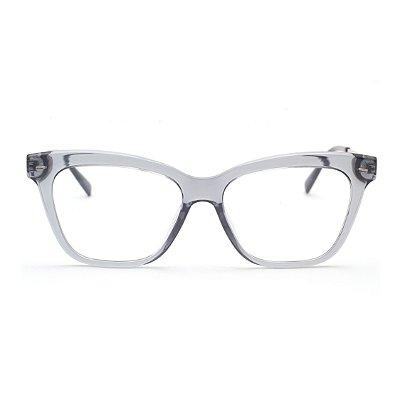 Armação para Óculos de Grau Feminino Acrílico Cinza Degradê