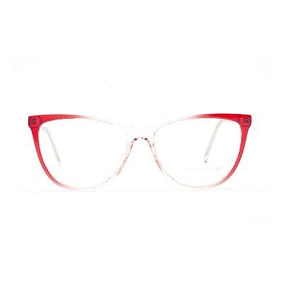 Armação para Óculos de Grau Feminino Acrílico  Vermelho Degrade