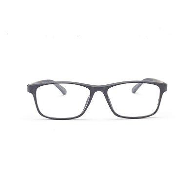 Armação para Óculos de Grau Masculino Acetato Preto 56