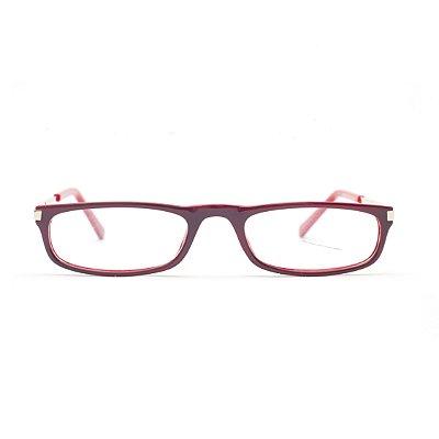 Óculos para Leitura Acetato Vermelho