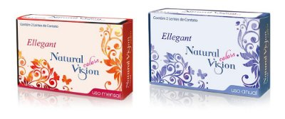 Lente de Contato Colorida Mensal Natural Vision Ellegant