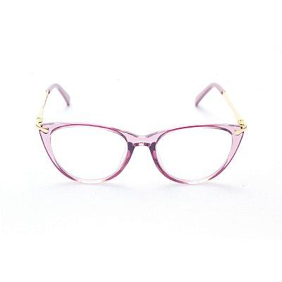 Armação para Óculos de Grau Infantil Feminino Gatinho Rosa