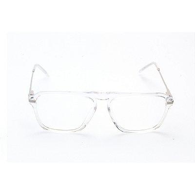 Armação para Óculos de Grau Masculino Quadrado Transparente