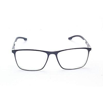 Armação para Óculos de Grau Masculino Acetato Retangular Preto