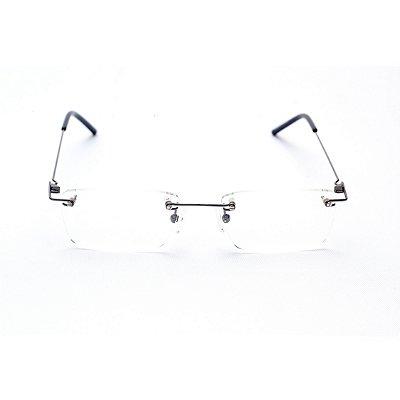 Armação para Óculos de Grau Masculino Retangular Três Peças