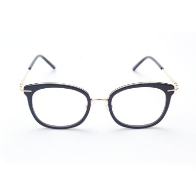 Armação para Óculos de Grau Feminino Ovalado Gatinho Preto Brilhante