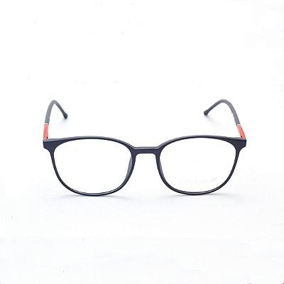 Armação para Óculos de Grau Masculino Oval Preto