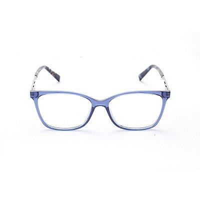 Armação para Óculos de Grau Feminino Quadrado Azul