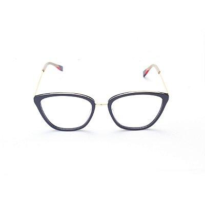Armação para Óculos de Grau Feminino Gatinho Preto